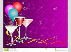 Twenty First Birthday Party Background Template Stock