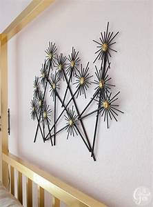 "DIY ""Metal"" Flower Wall Hanging - The Gathered Home"