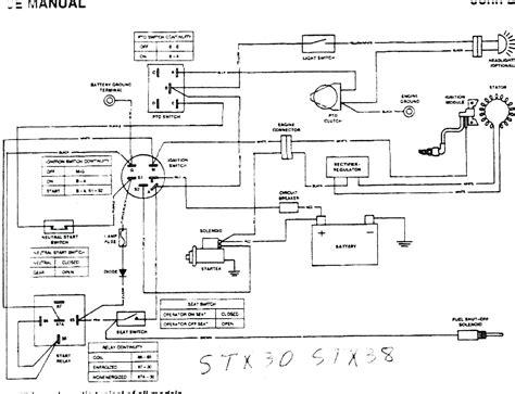 deere l100 mower wiring diagram best site wiring
