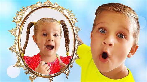 Magic Mirror Grants Wishes Of Diana And Roma Kids Pretend