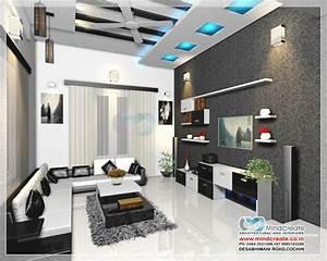 Living room interior model Kerala Model Home Plans