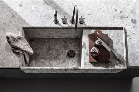 cucina stile country  lavello  pietra lavandino
