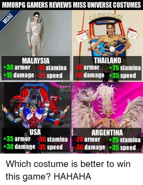 Mmo Memes - mmorpg gamers reviews miss universe costumes thailand malaysia 30 armor 10 stamina armor 25