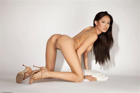 wallpaper asian brunette hot sexy danika davon kim ass doggy tits legs long hair