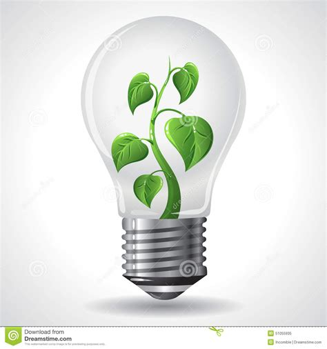 green energy concept power saving light bulbs stock