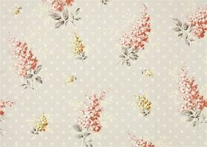 1940s Vintage Wallpaper by the Yard Peach and Yellow Floral