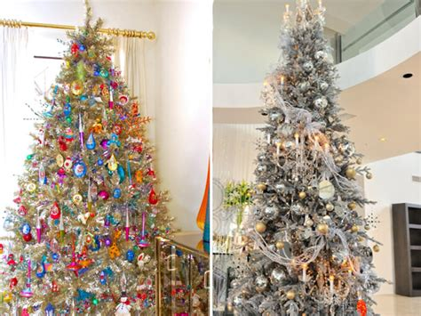 silver and christmas tree color your christmas with these 10 artificial trees hgtv 6312