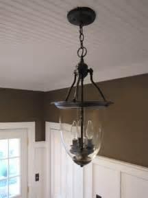 pottery barn ceiling lights 3 00 brass pendant light turned into pottery barn style