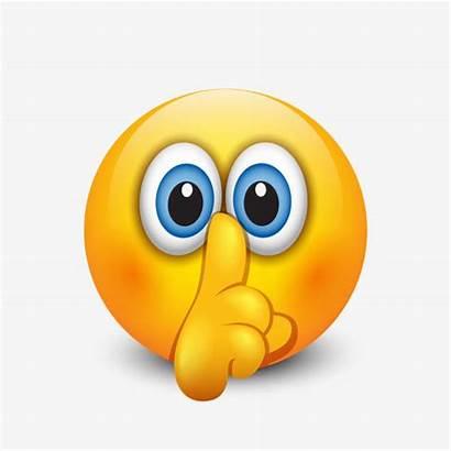 Talking Emoji Smiley Clip Shh Emoticon Illustrations