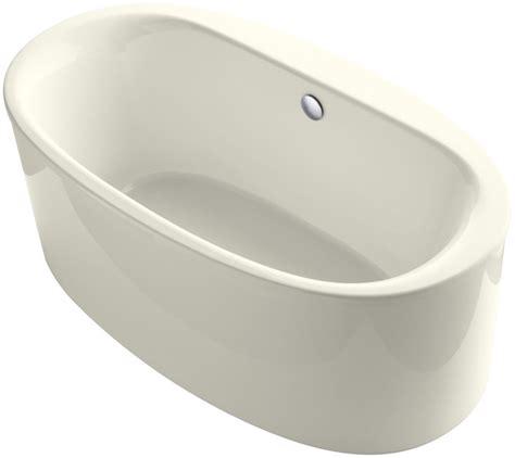 kohler freestanding tub faucet kohler k 6368 0 white sunstruck 66 quot free standing bath tub