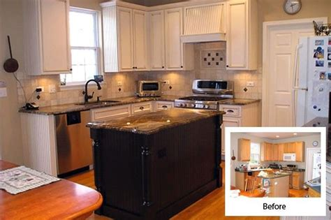 reface kitchen cabinets before and after cabinet refacing before and after kitchen pinterest