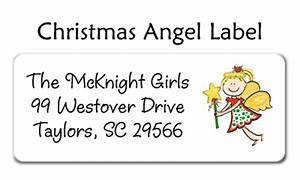 christmas angel address label by amy adele With angel address labels