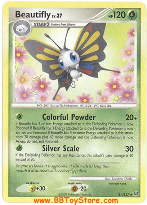 pokemon card platinum  beautifly lv rare