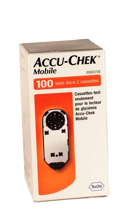 Accu Chek Mobile Cassette by Accu Chek Mobile Cassette Bande Test Lecteurs De