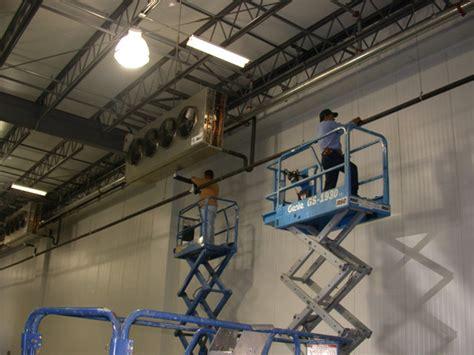 warehouse exhaust fan installation commercial industrial refrigeration hansberger