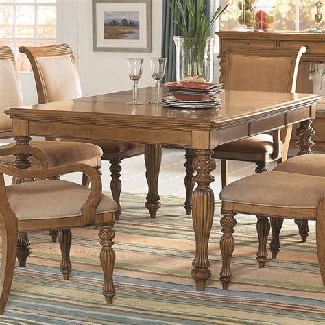 Islandinspired Rectangular Turned Leg Dining Table With