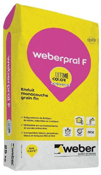 Enduit Weber Pral F 01000 Blanc 25kg