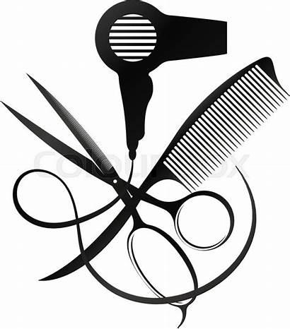 Comb Scissors Dryer Salon