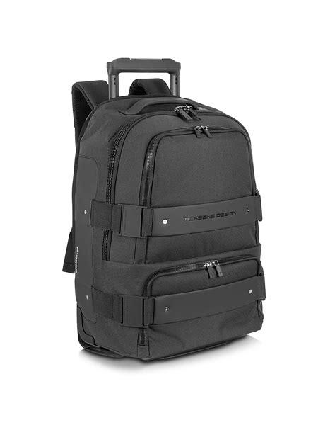best trolley backpack lyst porsche design backbag black backpack carry