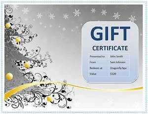 custom gift certificate templates for microsoft word With full page gift certificate template