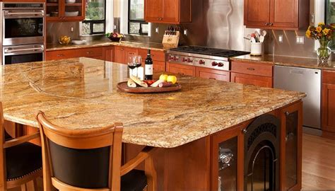 kitchen island with granite countertop corian countertops heat resistant exles of quartz
