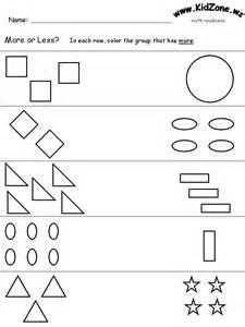 Vpk Printable Worksheets More Or Less 1