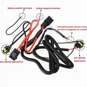H11 880 Relay Wiring Harness Xenon Hid Conversion Kit Add