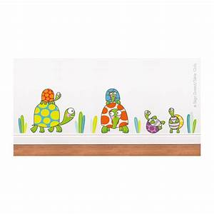 sticker famille tortue deco chambre bebe enfant serie With affiche chambre bébé avec maux de dos champs de fleurs