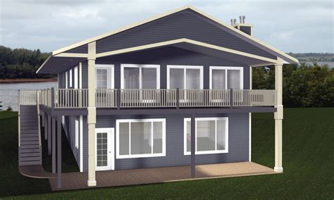 cabin house plans  walkout basement country house