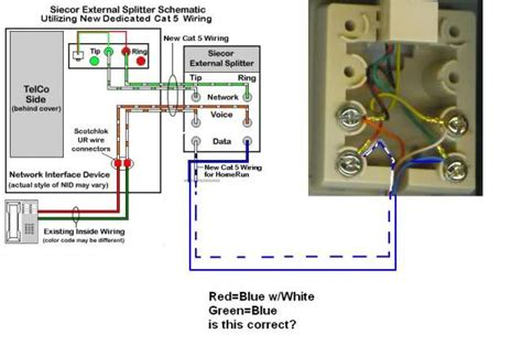 Telephone Dsl Splitter Wiring Diagram by Question About Dedicated Dsl Line To The Nid Box
