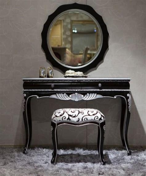 bedroom sets with vanity 10 bedroom vanities in modern black shade rilane 14426 | black bedroom vanity sets ideas 700x840