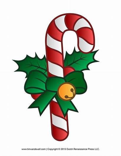 Candy Cane Clip Template Decorations Printables Christmas