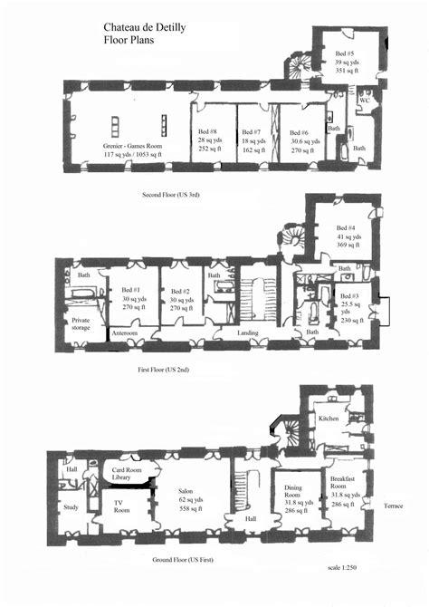 chateau floor plans recherche google  potential