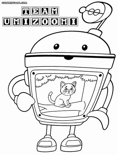 Umizoomi Coloring Team Pages Bot Coloringway Sheet