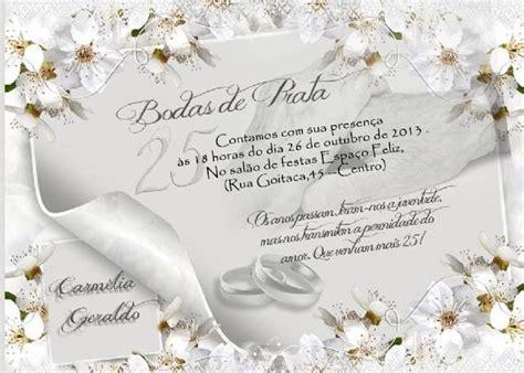 convite de bodas de prata artesanal de convite