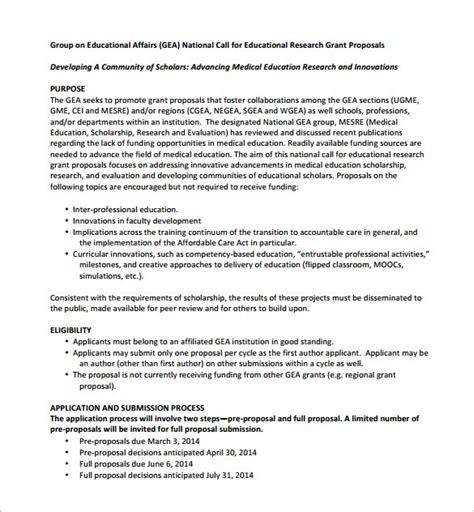 grant proposal template   sample  format