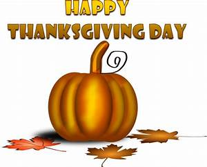 Happy Thanksgiving Day With Pumpkin Clip Art at Clker.com ...