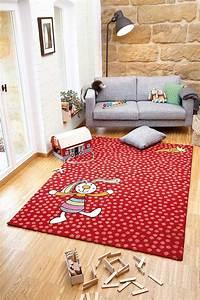 Tapis Chambre D Enfant : tapis rouge pour chambre d 39 enfant rainbow rabbit sigikid ~ Teatrodelosmanantiales.com Idées de Décoration
