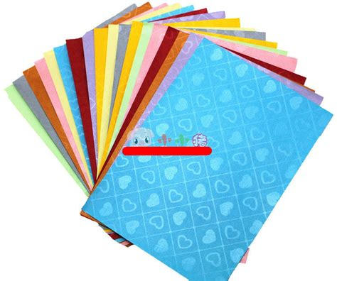 18 pcs with 9 colors A4 size colourful High grade embossed