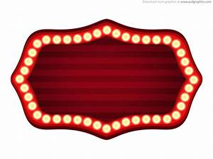 theater sign template psd psdgraphics With vintage sign templates free