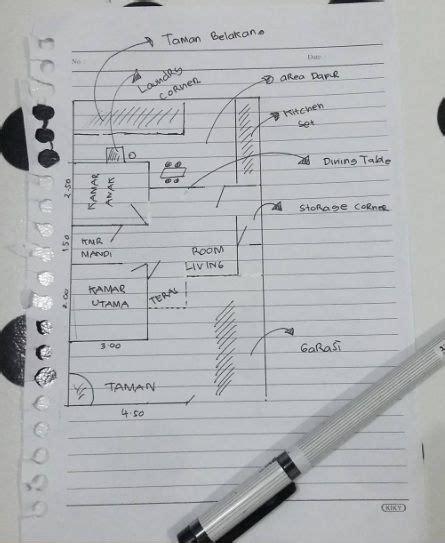 sketsa layout rumah tipe  milik kanya home sweet home   small house plans house plans  house