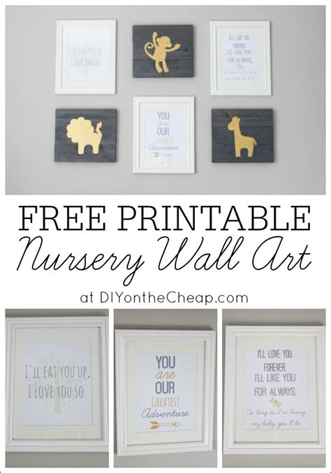 Wandtattoo Kinderzimmer Baby Junge by Free Printable Nursery Wall Pretty Printables