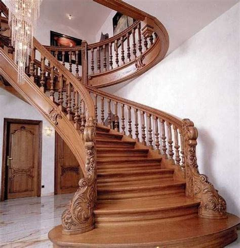 ideas  wood stair railings  pinterest railings split foyer  stairs