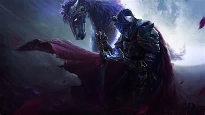 Knight Fantasy Warrior Horse 4k Dark Armor