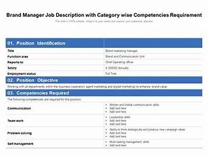 Brand Manager Job Description With Category Wise