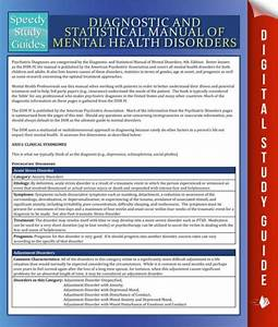 Diagnostic And Statistical Manual Of Mental Health