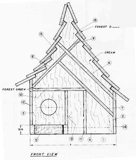 bird house plans bird house plan  project plans  httpwwwwoodworkitcom