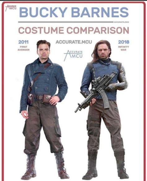 #Bucky then & now   Bucky barnes, Marvel costumes, Bucky