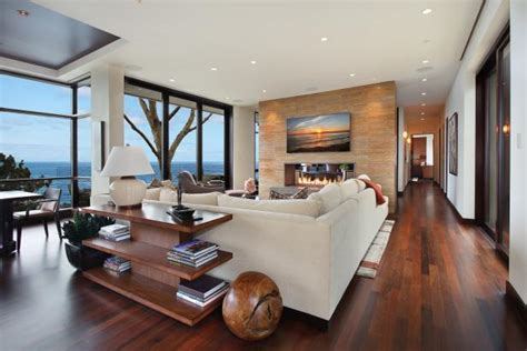 contemporary california living room  marble accent