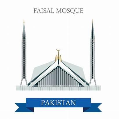 Faisal Pakistan Mosque Islamabad Illustrations Masjid Attraction